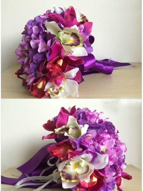 Bouquet Sposa Online.Bouquet Sposa Online Con Fiori Lilla E Viola Bouquet Fiori E
