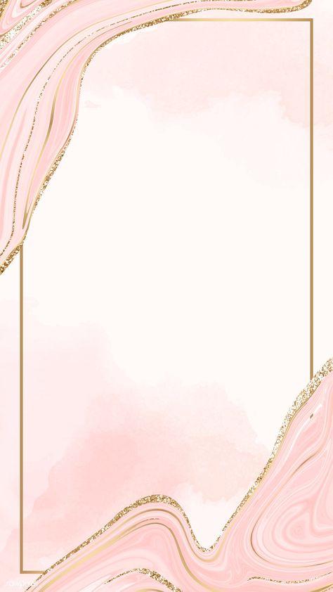 Gold frame on a pink fluid patterned  mobile phone wallpaper vector   premium image by rawpixel.com / Kappy Kappy #vector #vectoart #digitalpainting #digitalartist #garphicdesign #sketch #digitaldrawing #doodle #illustrator #digitalillustration #modernart #frame
