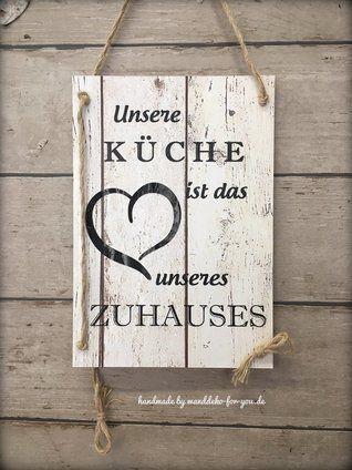 Unsere Kuche Ist Das Herz Unseres Zuhauses Altmodische Hauser Holzschilder Und Wanddeko Holz