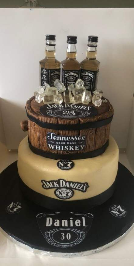 45 Trendy Birthday Cake Ideas For Adults Jack Daniels Cake