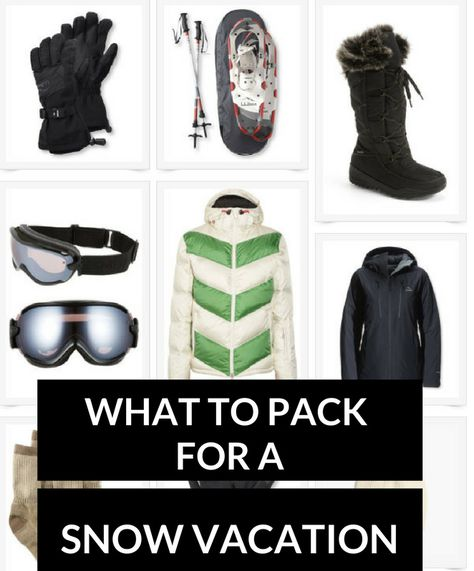 9eb95b66d5 What to pack for a snow vacation  ideas for what to wear in the snow
