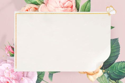 Floral golden frame design vector | premium image by rawpixel.com / Adj