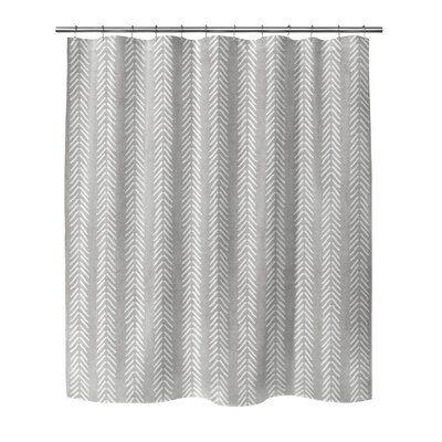Mistana Adeline Chevron Single Shower Curtain Cool Shower Curtains Curtains Colorful Curtains