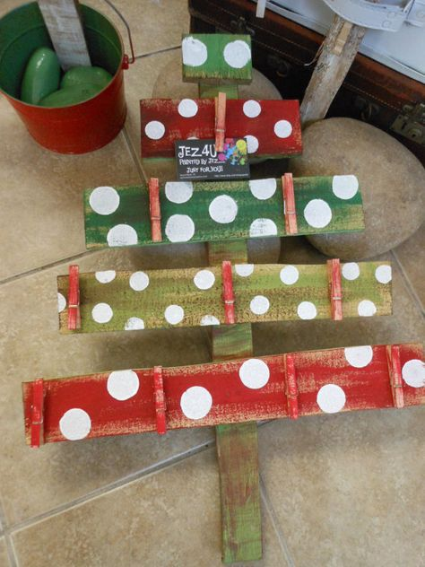 Small 2 foot tall Whimsy Christmas Card Holder Custom Order Want a different color Tell me at checko