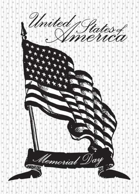 Illustrated United States Flag Memorial Day Card Ad Sponsored States United Illustrated Flag Memorial Day United States Flag State Flags