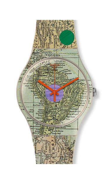 Swiss made, the Swatch watch THIS IS MY MAP features a quartz movement, a silicone strap and a plastic watch head. Discover more Originals New Gent on the Swatch United States website.