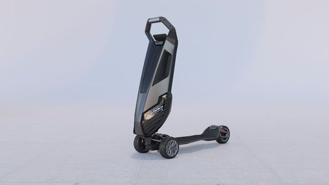 D-fly's dragonfly hyperscooter features aerospace-grade aluminum