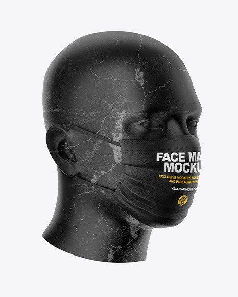 Download Surgical Face Mask Box Mockup Face Mask Clothing Mockup Face