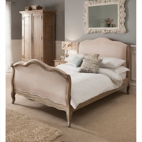 Montpellier Blanc Sleigh Antique French Style Bed Luxury