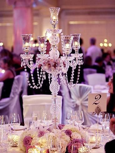 35 Tall 4 Arm Stunning Candelabra Candlestick Crystal Candle Holder In 2020 Candle Holders Wedding Centerpieces Flower Centerpieces Wedding Wedding Floral Centerpieces