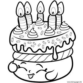 Print Cake Wishes Shopkins Season 1 From Coloring Pages Shopkin