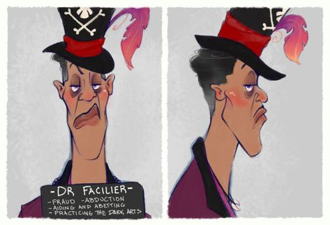 Villain Mugshots Dr Facilier by HaaappyAccidents on Etsy