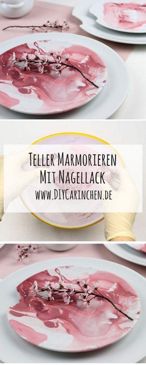 Photo of DIY Teller ganz einfach mit Nagellack marmorieren – ein echter Hingucker