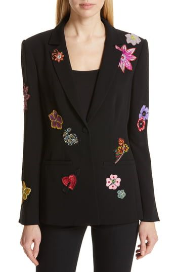 Great for Cinq ? Sept Rumi Botanical Patch Blazer Fashion Womens Clothing. [$695] featuredtopbuy from top store
