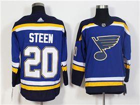 finest selection a54b4 6320b St. Louis Blues #20 Alexander Steen Home Blue Jersey | Cheap ...