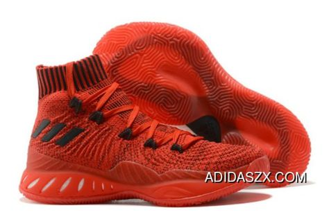 18c45192 New Release Adidas Crazy Explosive 2017 Primeknit Chinese Red Black ...
