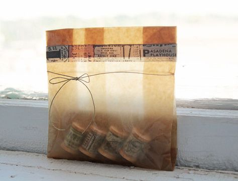 Small Kraft Brown Paper Shopping Gift Bags approximate 25 5x4x8