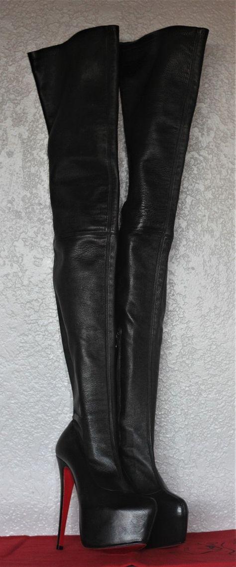 innovative design 33346 32b83 List of Pinterest christian louboutin boots thigh highs ...