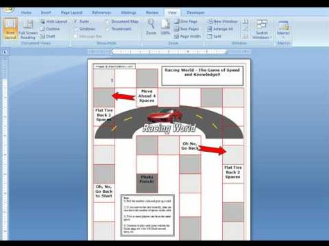 Microsoft Word Game Boards for Teachers - YouTube games - microsoft word diagram templates