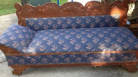 Marvelous Antique Eastlake Victorian Sofa Bed Chaise Fainting Couch Beatyapartments Chair Design Images Beatyapartmentscom