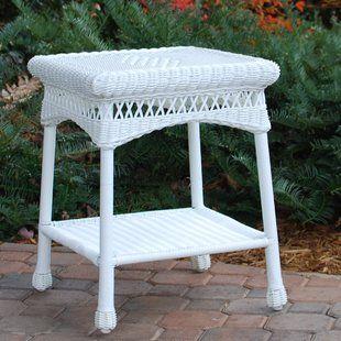 Small White Wicker Table Wayfair