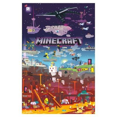 The Minecraft World Poster Ist Is The Must Have Centerpiece For Any Minecraft Lover Perfect For You Or Als Gi Walmart Minecraft Ve Yaratici