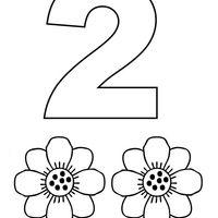 Desenho De Numero 2 Com Figuras Para Colorir Figuras Para