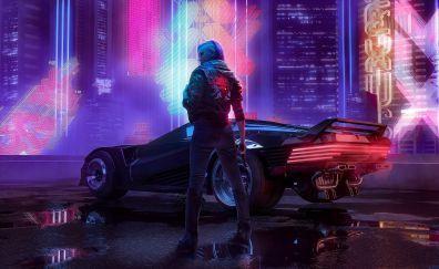 Cyberpunk 2077 A Girl With Car Art Cyberpunk Cyberpunk 2077 Cyberpunk Aesthetic