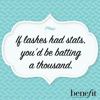 Thanks, they're real! ;) #benefitbeauty