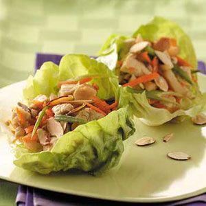 Chicken Lettuce Wraps from Taste of Home