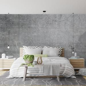 Removable Concrete Wallpaper Peel And Stick Option Modern Etsy Concrete Wallpaper Wallpaper Walls Decor Living Room Background