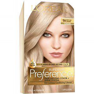 L Oreal Paris Superior Preference 9a Light Ash Blonde Cooler