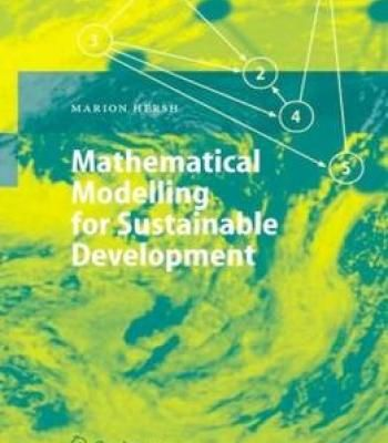 Mathematical Modelling For Sustainable Development Pdf