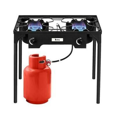 Details About 2 Burner Gas Propane Cooker Outdoor Camping Picnic Stove Stand Bbq Grill Camping In 2020 Gas Cooker Camping Stove Bbq Grill