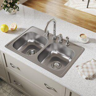 Pin By Sontae Mitchell On Kitchen Drop In Kitchen Sink Farmhouse Sink Kitchen Sink