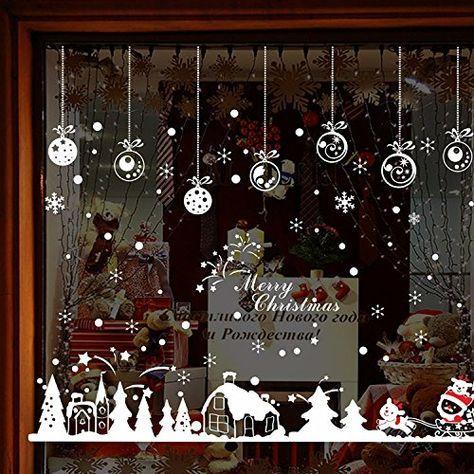 Christmas Window Decals.Pin On Karacsony