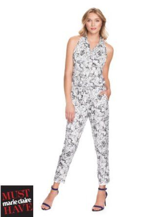 GUESS Inbloom Silk Jumpsuit, WHITE MULTI (XS) GUESS. $128.00