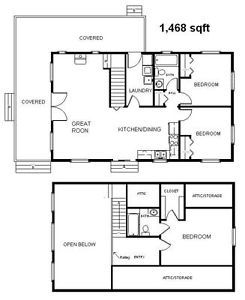 Country Classic Cabin wLoft 24x40 Plans Package Blueprints