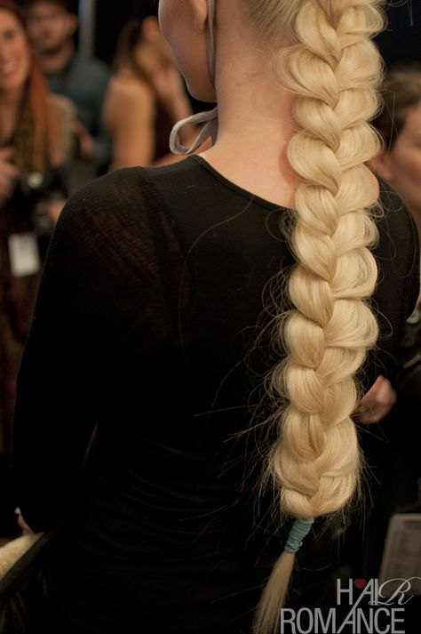Braids backstage at Camilla #mbfwa