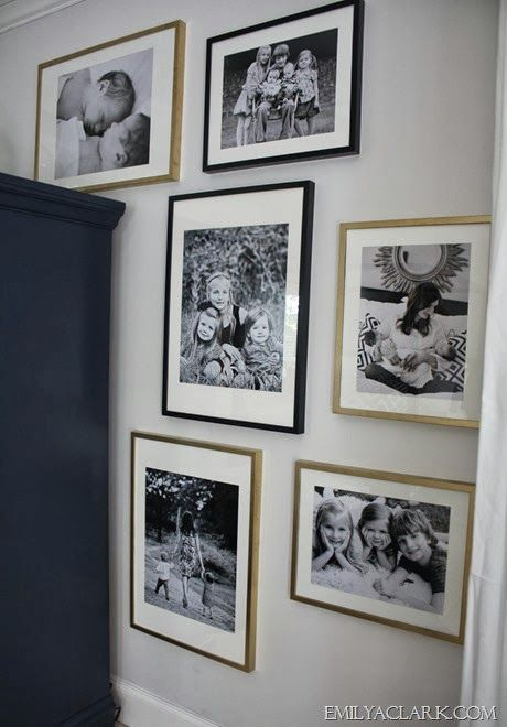 12x18 And 16x20 Pictures In Ikea Ribba Frames Family Photo Gallery Wall Family History Photo Wall Photo Wall Gallery