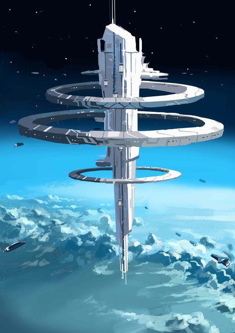 Cosmos, Futuristic City, Futuristic Architecture, Casa Bunker, Art Science Fiction, Forensic Science, Starship Concept, Sci Fi Spaceships, Arte Cyberpunk