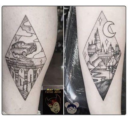 35 Enchanting Harry Potter Tattoos Hogwarts Tattoo Harry Potter Tattoos Car Tattoos
