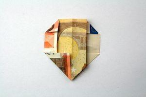 Faltanleitung Kleines Herz Als Geldgeschenk Geld Falten