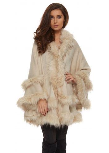 Womens Ladies Khaki Green Patchwork Faux Fur Gilet Winter Jacket Coat Urban Mist
