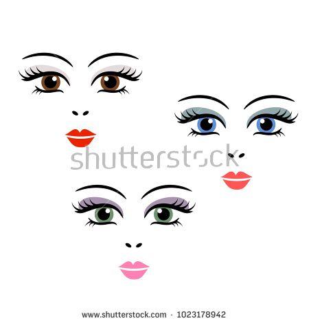 Doll Face Vector Girl Cartoon Eyes Female Woman Cute