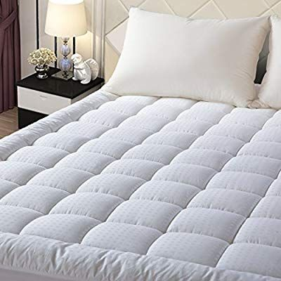 Amazon Com Easeland Quilted Fitted Mattress Pad Queen Mattress Cover Stretches Up 8 21 Deep Pocket Down Al Mattress Pillow Top Mattress Queen Mattress Size