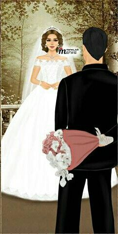Pin By Yoeli Rondon Orozco On Bride Couple Wedding Lovely Girl Image Cute Couple Art Girly Drawings
