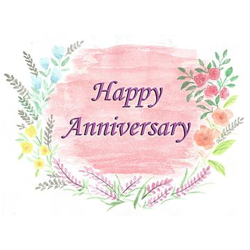 Happy Anniversary Card With Floral Frame Anniversary Celebration Vintage Png Transparent Clipart Image And Psd File For Free Download Happy Anniversary Cards Happy Anniversary Floral Vector Png