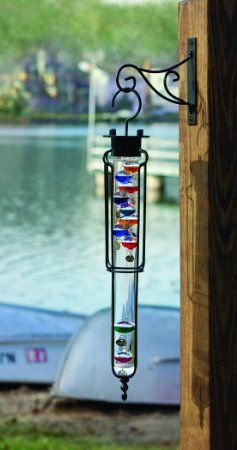 "22"" Hanging Galileo Thermometer with Decorative Bracket"