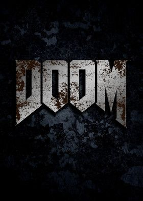 Doom Game Lover Gift Ideas Gaming Lover Gifts Game Logo Gaming Logo Gaming Posters Game Lover Poste Poster Prints Gaming Posters Metal Posters Design